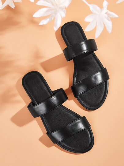 Two Part Open Toe Sliders