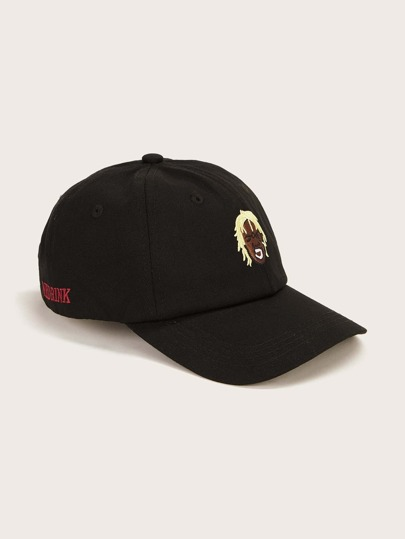 Figure Embroidered Baseball Cap