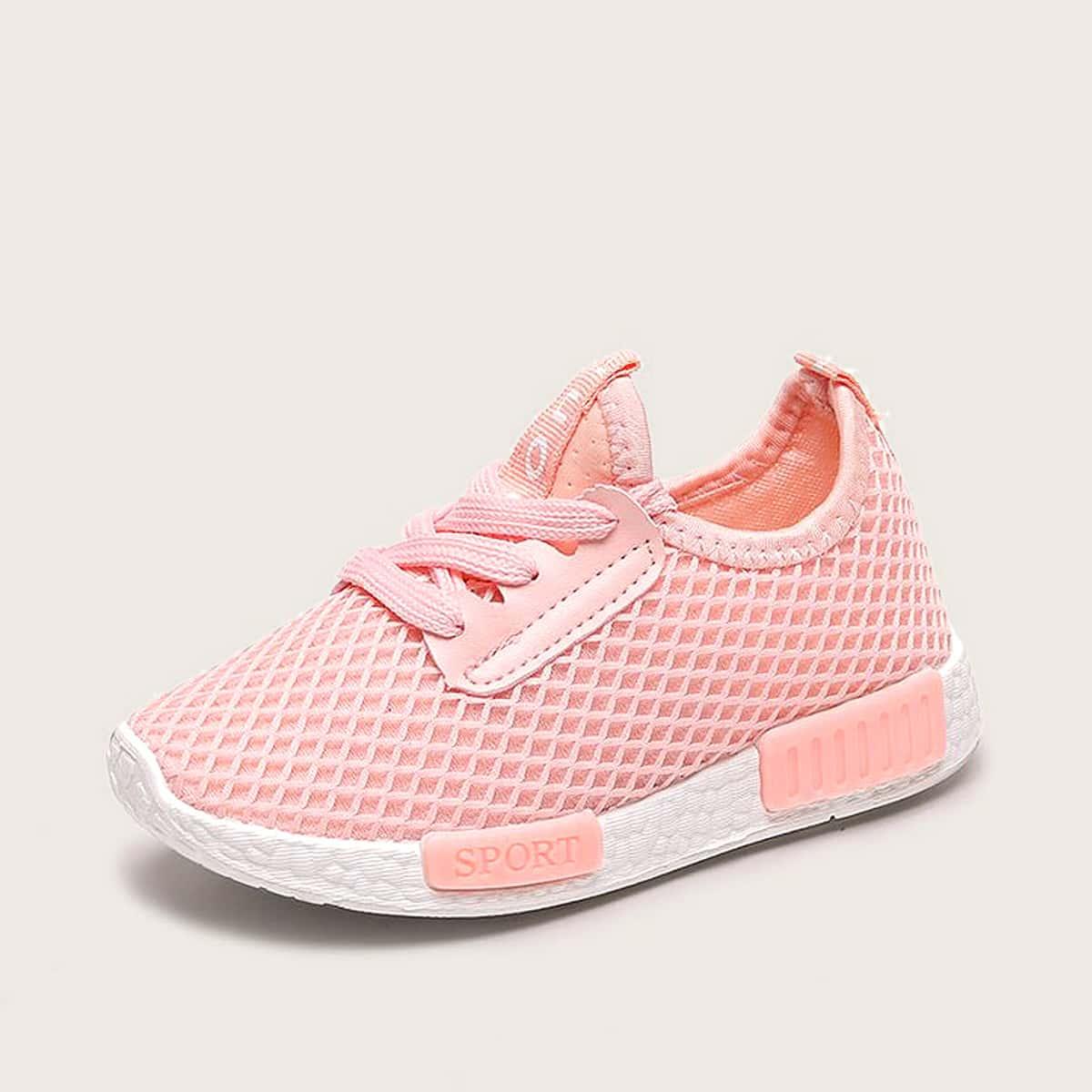 Кроссовки на шнуровке для девочек Letter Patch SheIn skshoes03200108889
