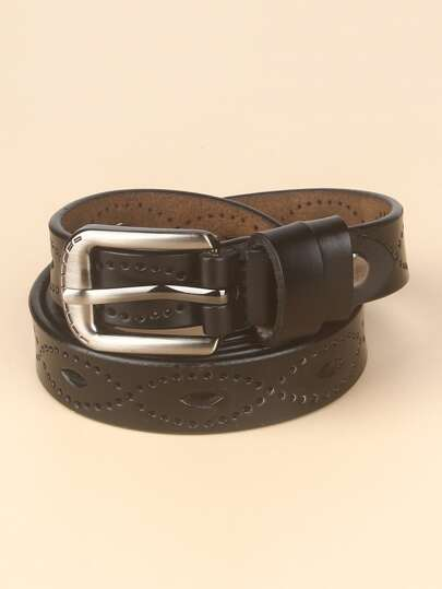Cut Out Design Pin Buckle Belt