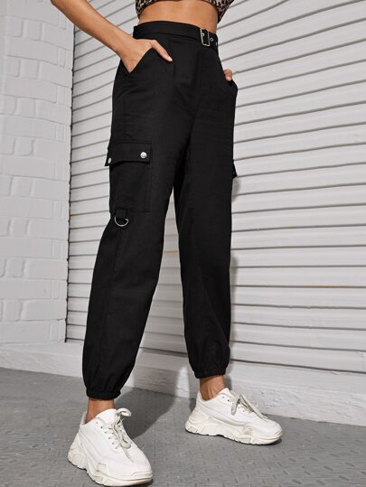 Self Tie Flap Pocket Cargo Pants
