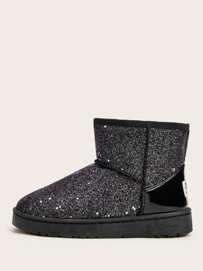 Glitter Wide Fit Snow Boots