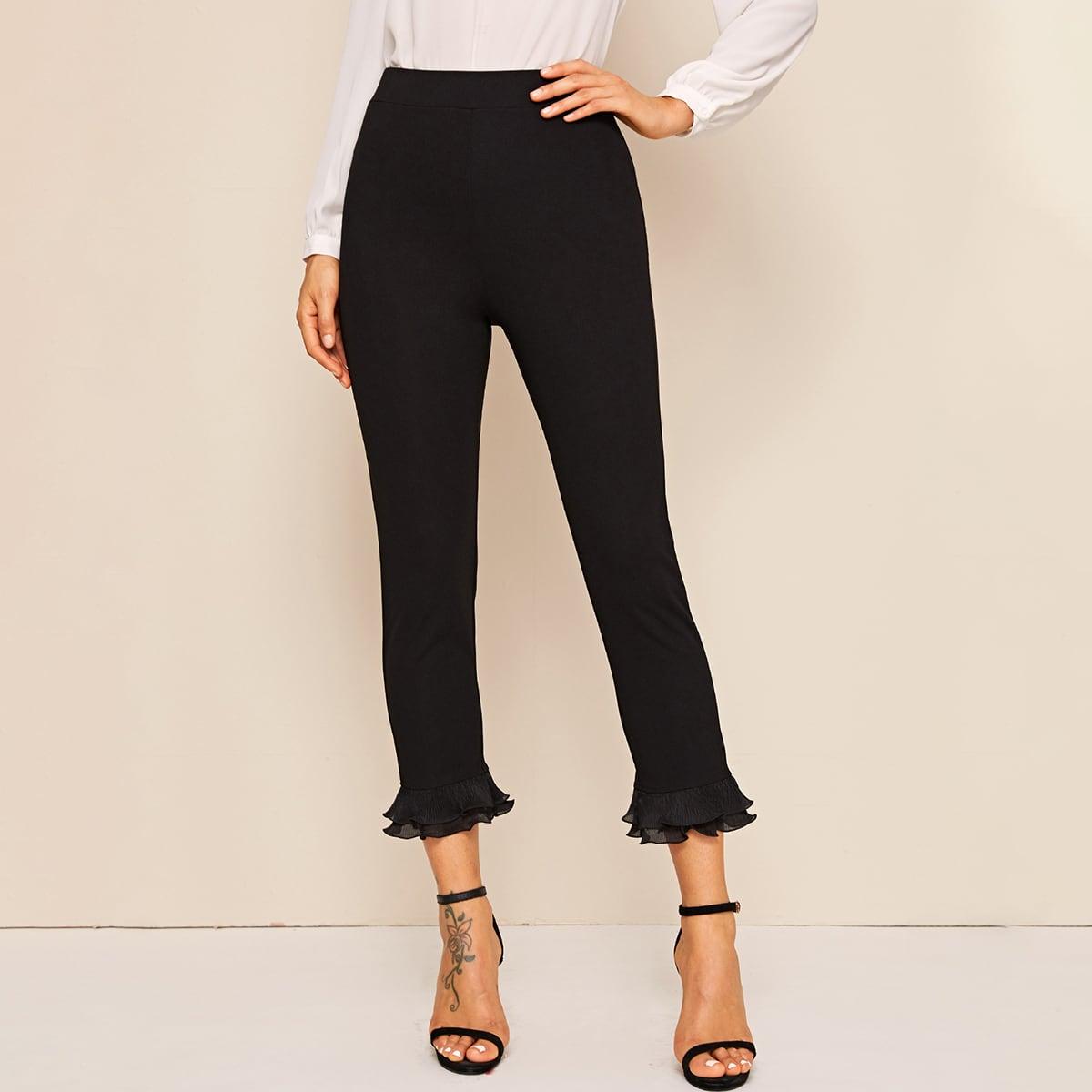 Короткие брюки с плиссированным краем