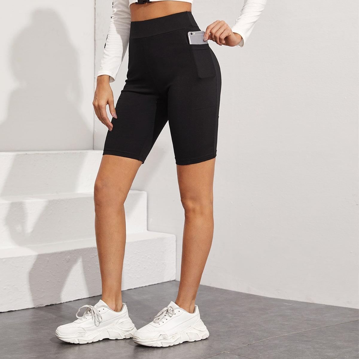 Велосипедные шорты с карманом и широкой талией