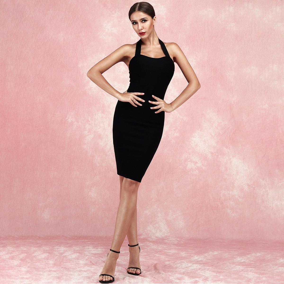 Lucra облегающее платье с молнией и воротником-халтером