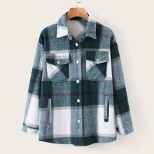 Plaid Flap Pocket Overshirt