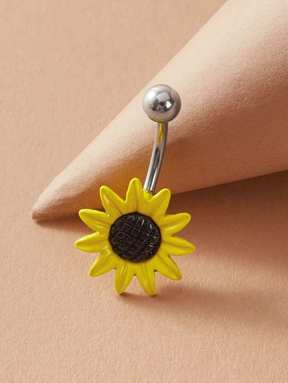 1pc Flower Shaped Belly Ring
