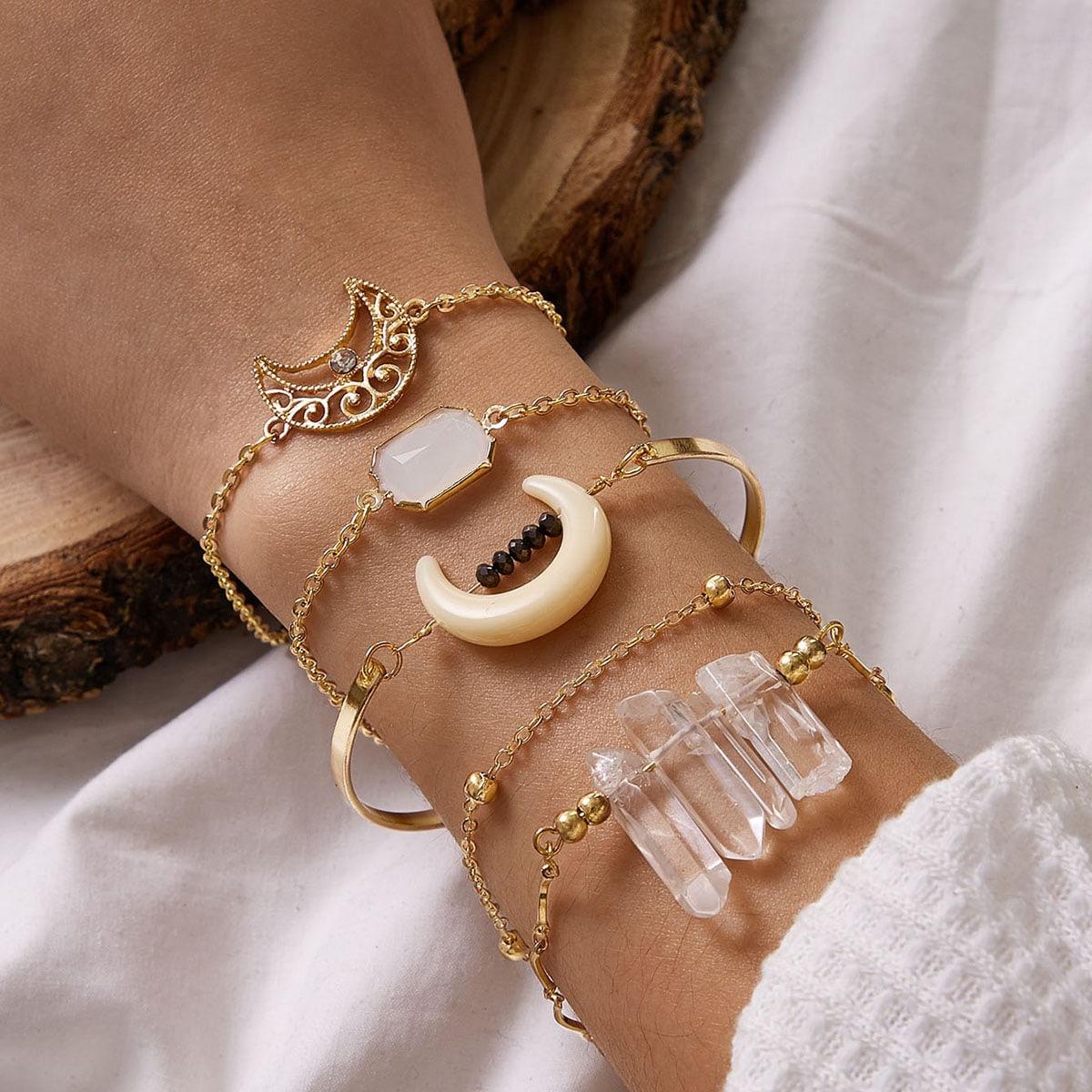 5pcs Mond & Stein Dekor Armband