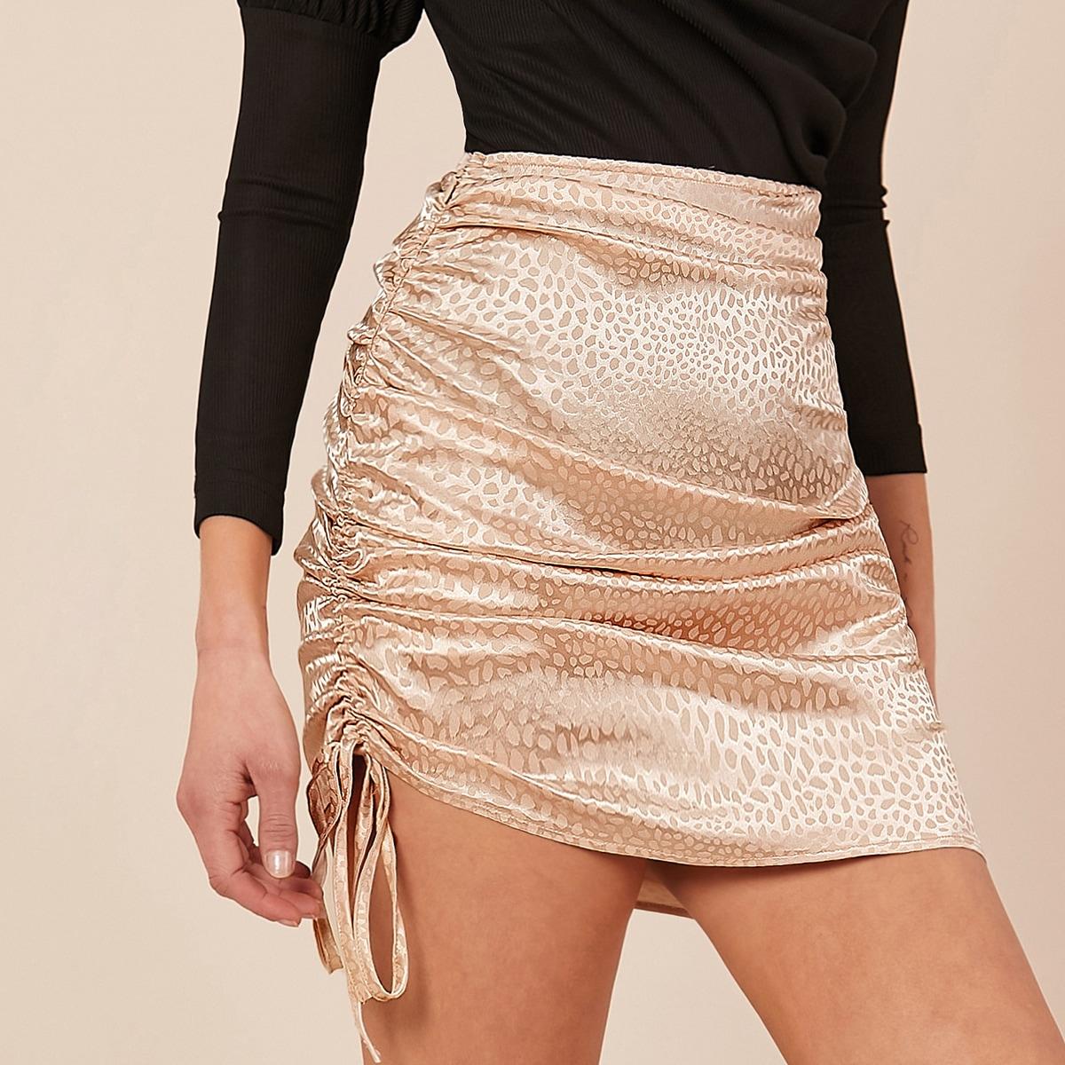 Атласная юбка на кулиске