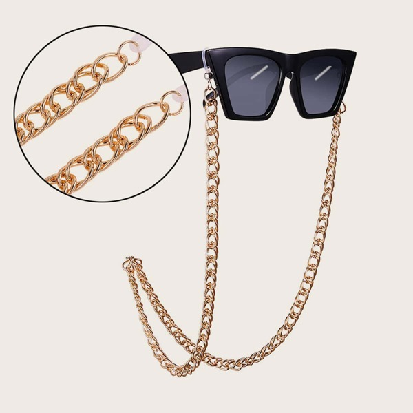 Men Simple Glasses Chain, Gold