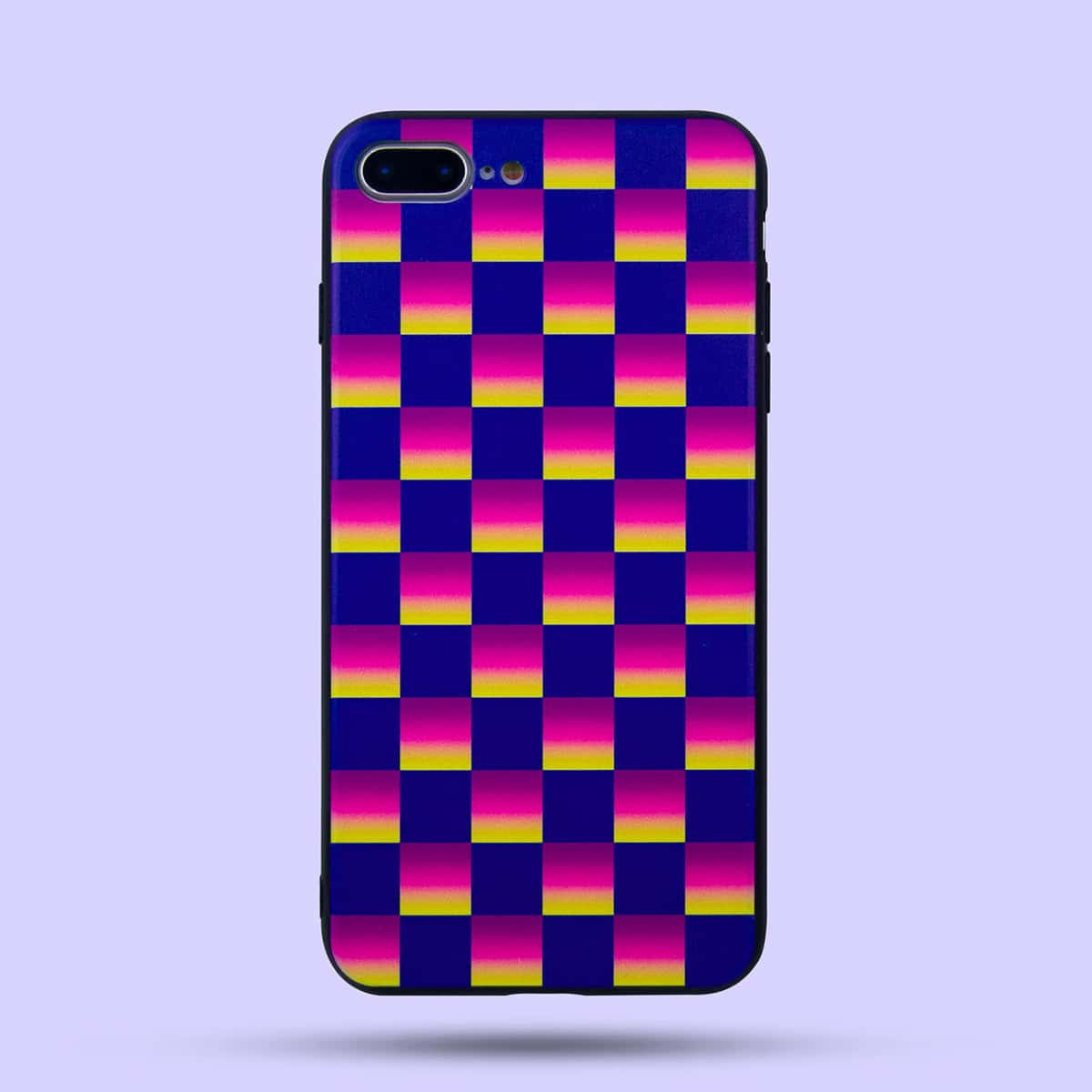 Gradient Plaid Pattern iPhone Case, SHEIN  - buy with discount