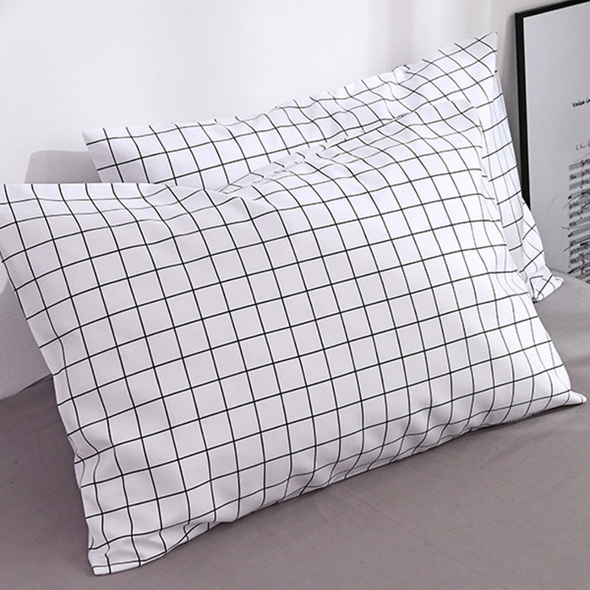 1Pc Plaid Pattern Pillowcase Without Filler