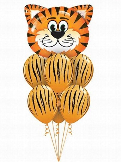 1pc Animal Balloon & 8pcs Polka Dot Balloon