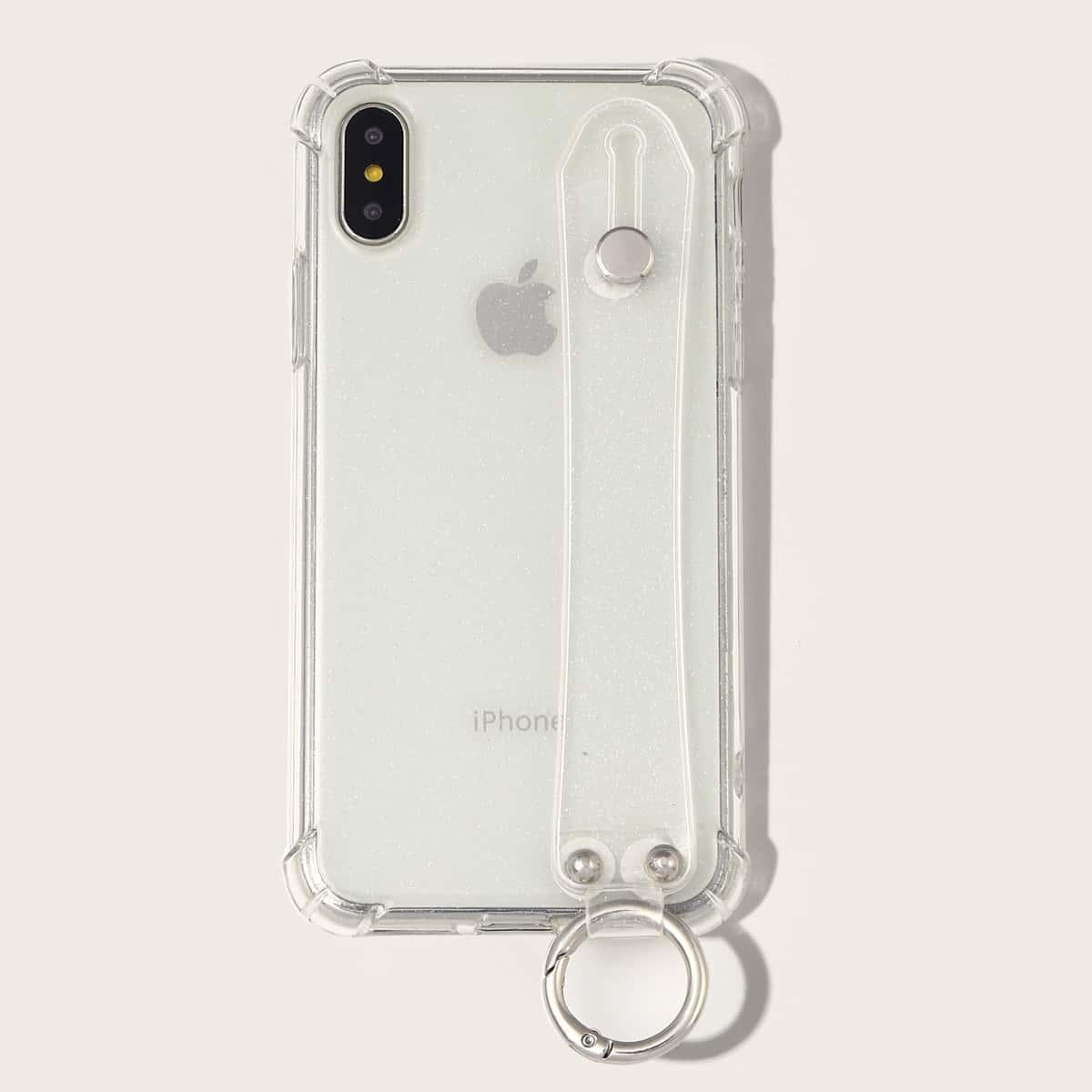 iPhone Schutzhülle mit Glitzer und Riemen
