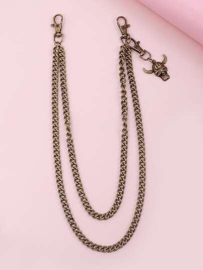 Bull Charm Layered Chain Belt
