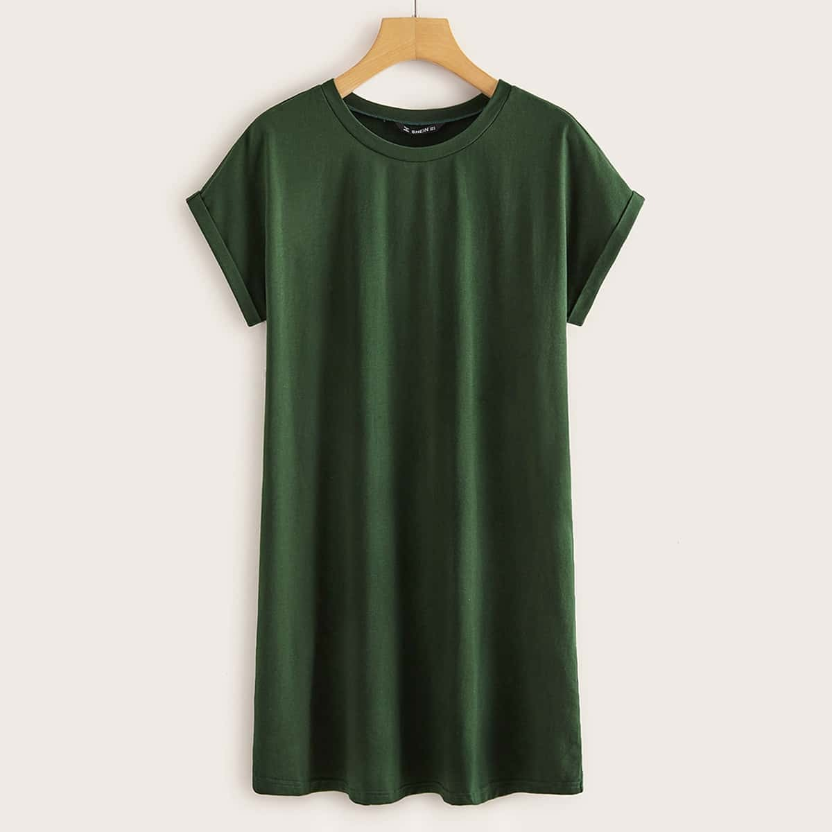 Однотонное платье-футболка
