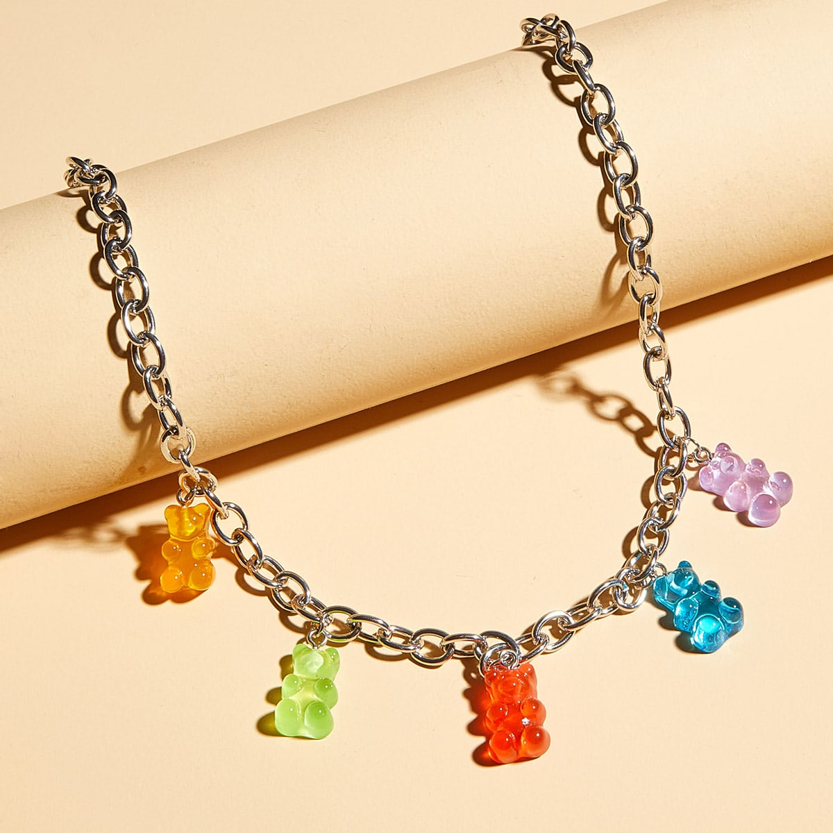 1pc Bear Charm Necklace