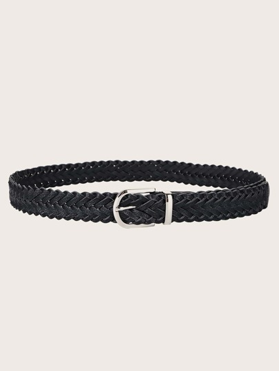 Braided PU Buckle Belt