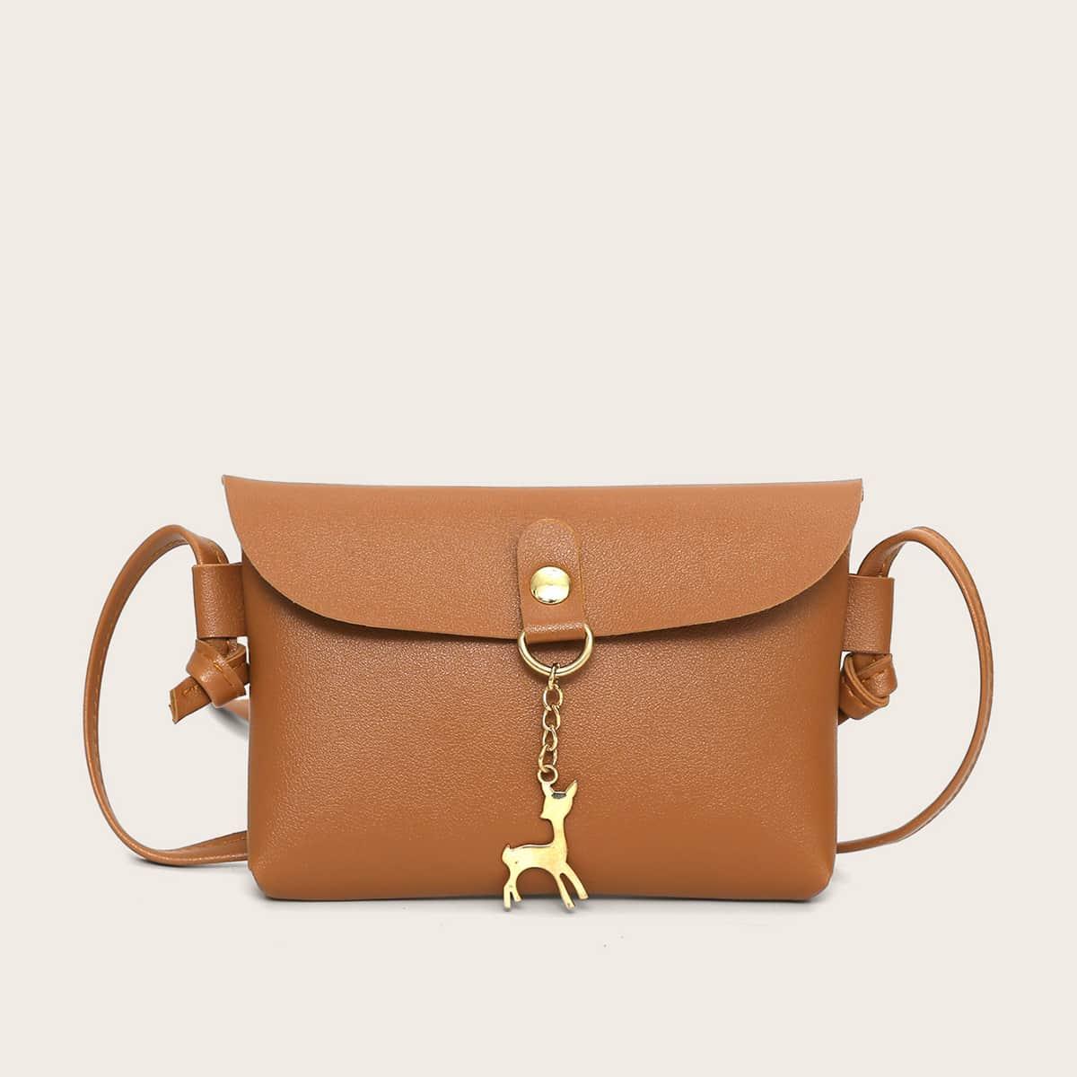 Girls Deer Decor Crossbody Bag
