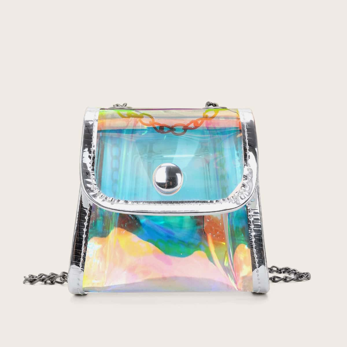 Girls Clear Holographic Crossbody Bag