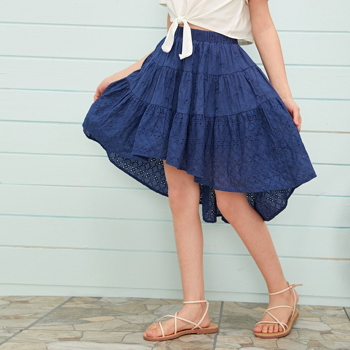 Асимметричная юбка для девочек