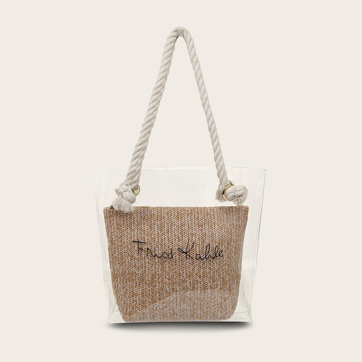 Прозрачная двойная сумка