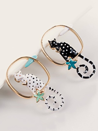 2pcs Cute Cat Design Brooch