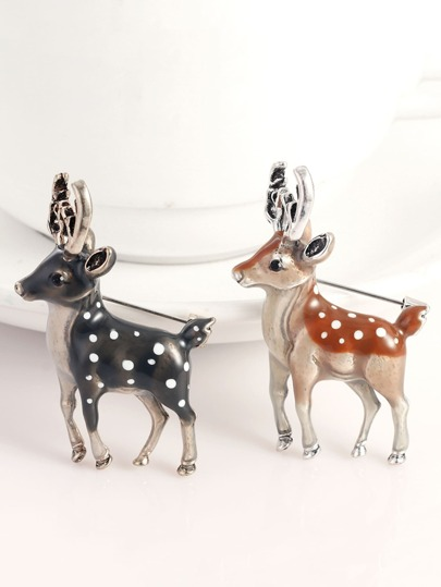 2pcs Deer Shaped Brooch
