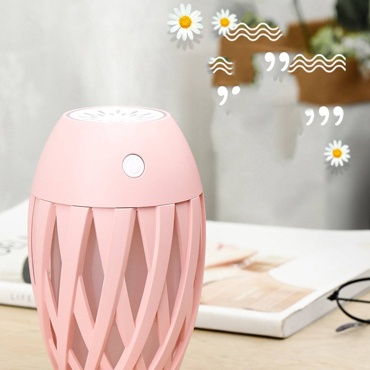 Solid USB Humidifier With LED Light