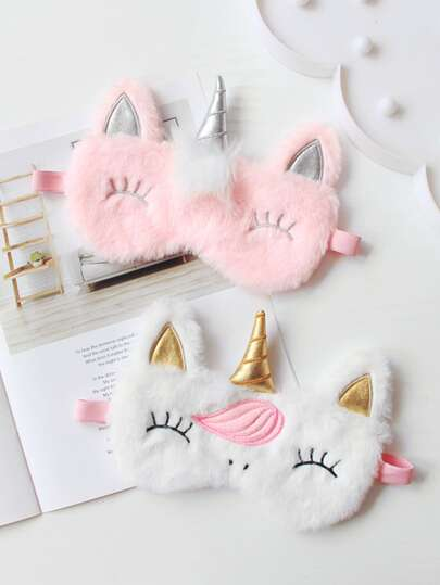1pc Unicorn Plush Eye Mask