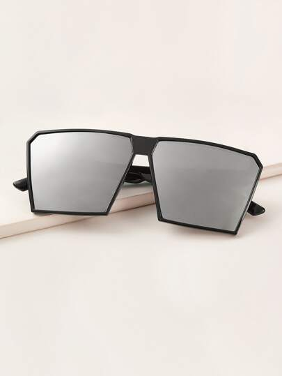 Flat Top Acrylic Frame Sunglasses With Case