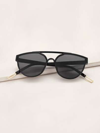 Top Bar Acrylic Frame Sunglasses With Case