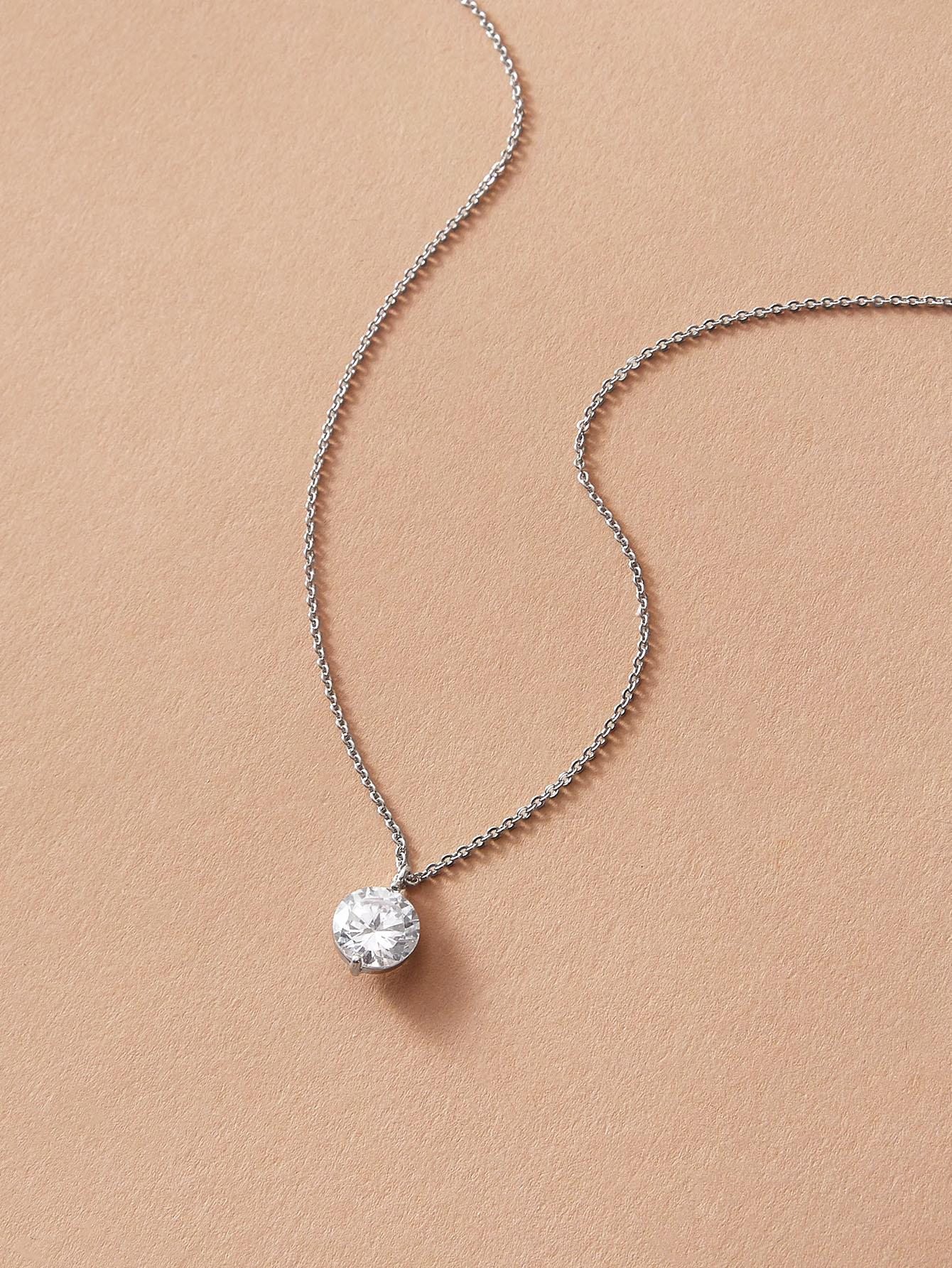 1pc Rhinestone Decor Pendant Necklace thumbnail