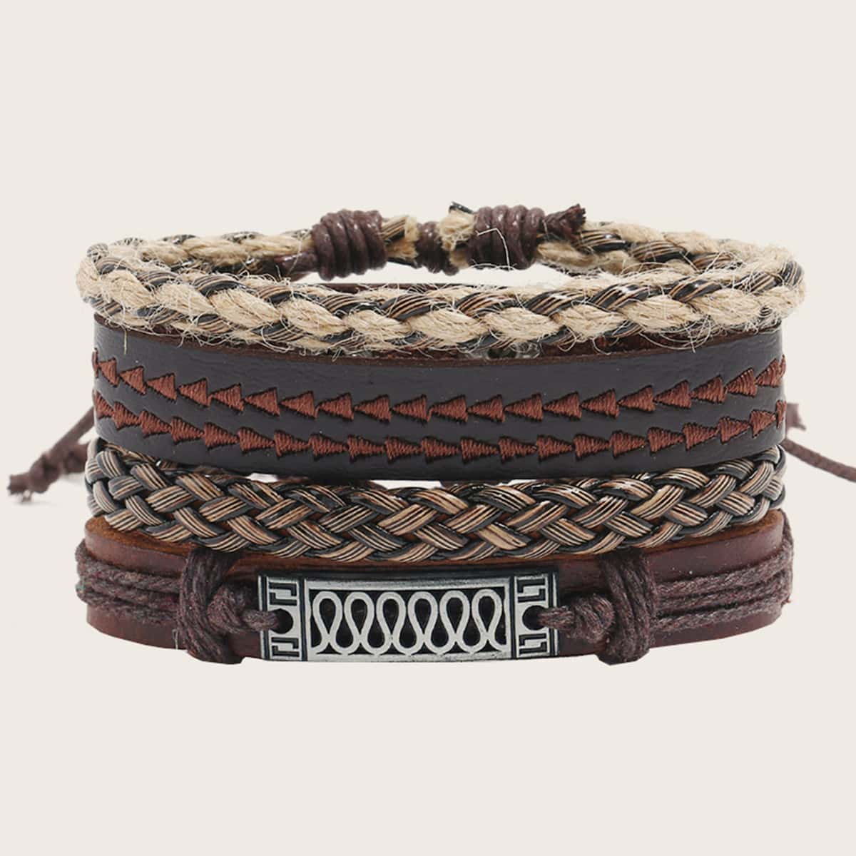 Men PU Braided Bracelet, SHEIN  - buy with discount