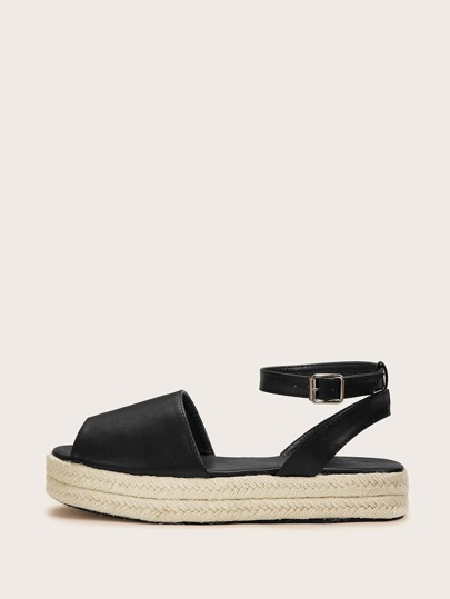 Two Park Ankle Strap Espadrille Wedges