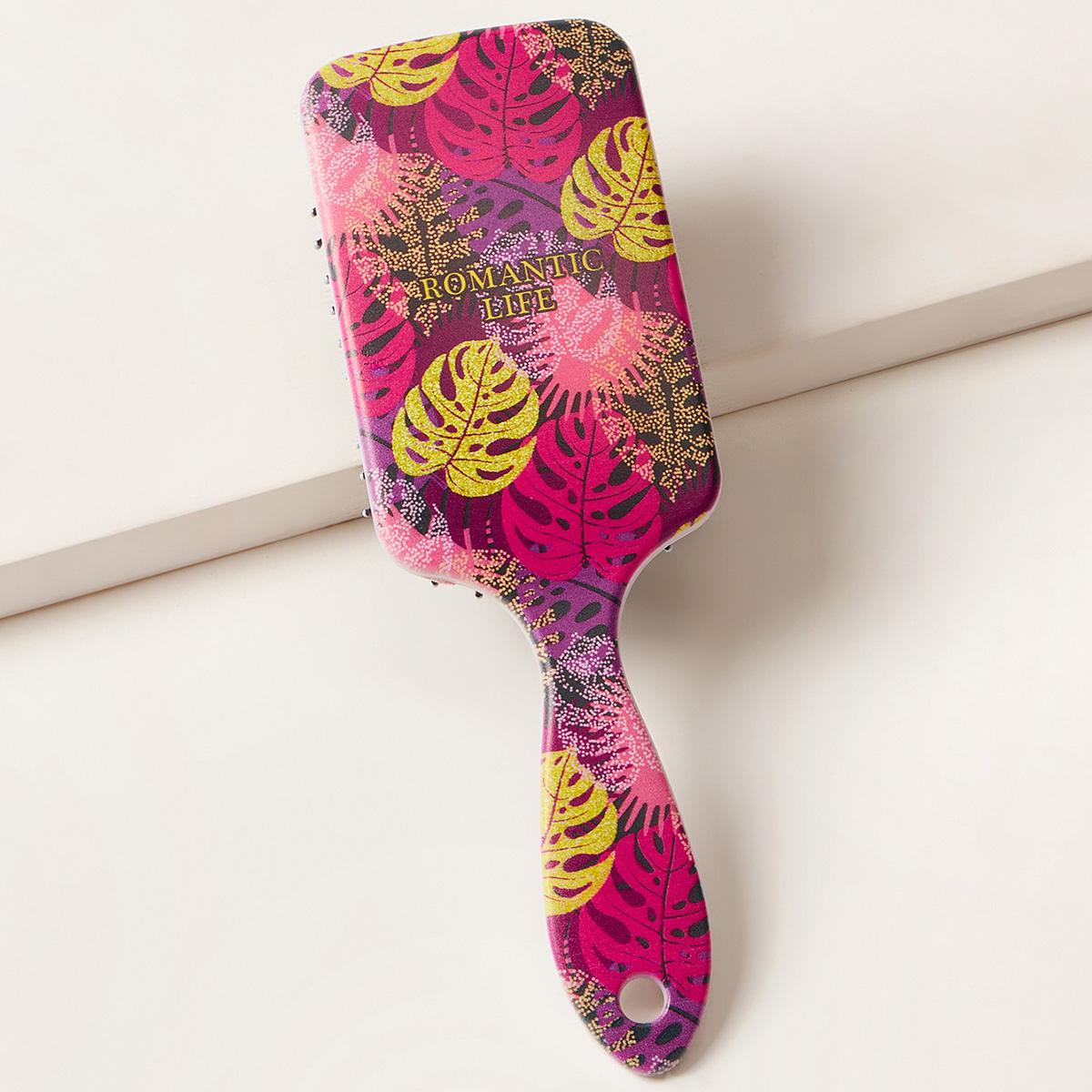 Расческа для волос с узором листа