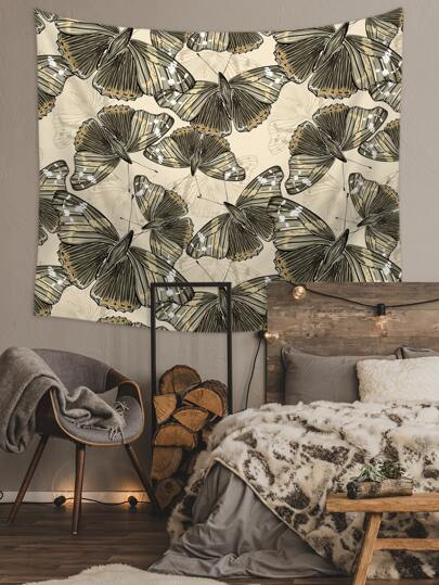 1pc Butterfly Print Tapestry
