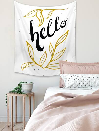 1pc Letter Graphic Tapestry