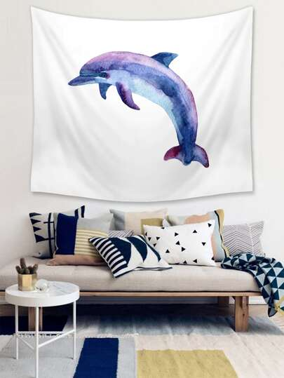 1pc Whale Print Tapestry