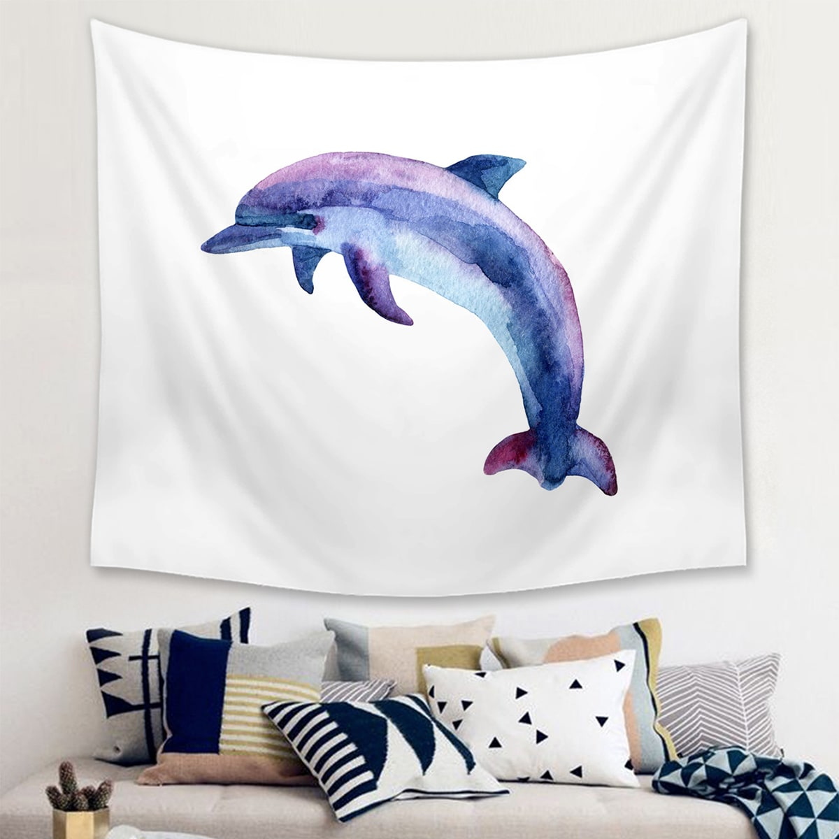 1pc Whale Muster Tapisserie