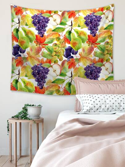 1pc Fruit Print Tapestry