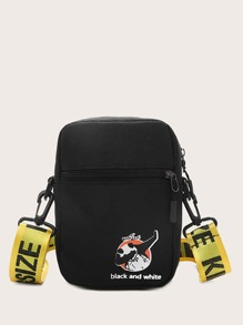 kids cartoon graphic crossbody bag