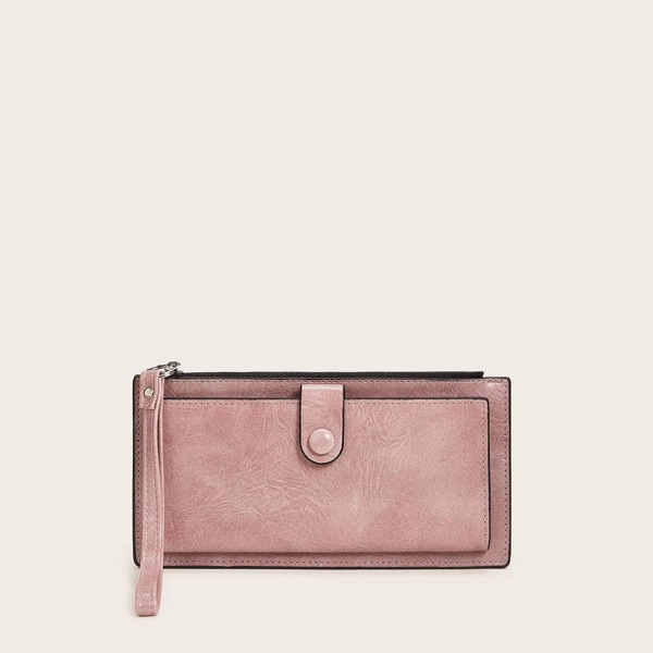Minimalist Purse With Wristlet, Pink