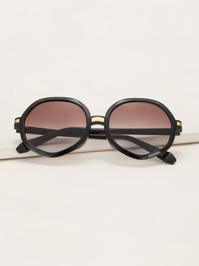 Acrylic Frame Gradient Lens Sunglasses With Case