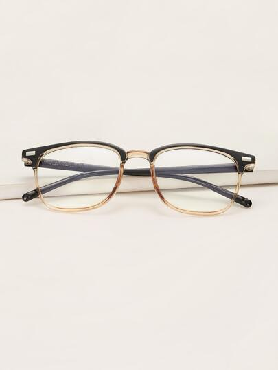 Clear Acrylic Frame Glasses With Case
