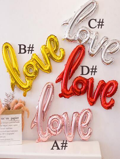 1pc Letter Design Aluminum Foil Balloon