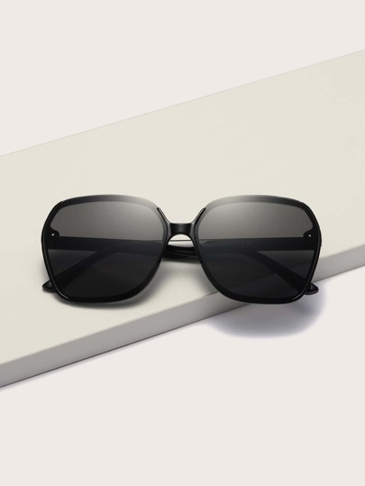 Square Acrylic Frame Sunglasses With Case