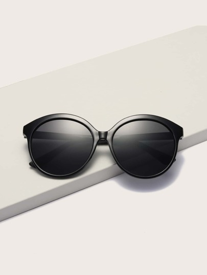 Round Acrylic Frame Sunglasses With Case
