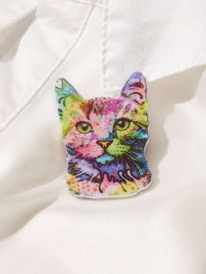 1pc Cat Pattern Brooch