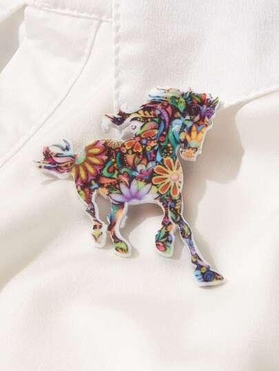1pc Horse Shaped Brooch